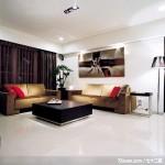 隐藏式柜体设计,东易日盛CBD工作室,刘绍军,客厅,造型沙发背墙,阳台落地窗,