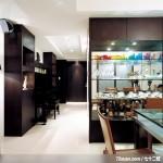 隐藏式柜体设计,东易日盛CBD工作室,刘绍军,餐厅,展示柜,收纳柜,钢琴区,