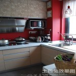现代厨房用具装修效果图