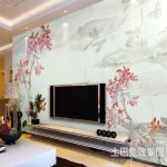 淡雅的相宜的配色,电视背景墙装修效果图大全2012图片