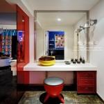 现代色彩搭配装饰卫生间梳妆台装修效果图