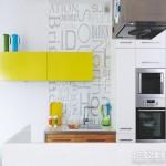 厨房彩色搁架装饰效果图