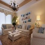 流行的欧式田园客厅装修风格