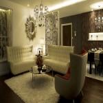 新古典三居室装修效果图客厅图片