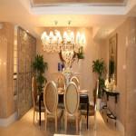 欧式三居餐厅吊灯装饰效果图