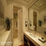现代简约风格中卫生间实木门装修效果图