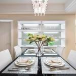 现代简约餐厅餐具图片欣赏