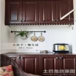 厨房实木橱柜效果图2013