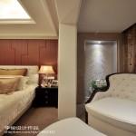欧式风格卧室镂空隔断装修效果图