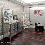 欧式现代风格画室装修效果图