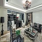欧式现代风格客厅家具装修效果图