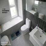 卫生间洗手盆墙面瓷砖装修效果图