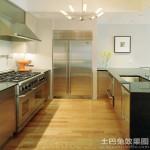 厨房不锈钢台面橱柜图片