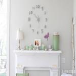 简约墙壁创意挂钟图片