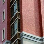 小区居民楼红色外墙砖贴图