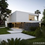 别墅白色外墙砖贴图