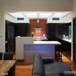家装整体半开放式厨房装修效果图片
