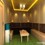 电气石汗蒸房室内设计效果图