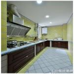 整体厨房L型实木橱柜图片