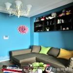 现代一居室客厅墙面颜色效果图