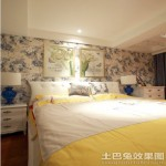 二居室卧室床头挂画装饰效果图片