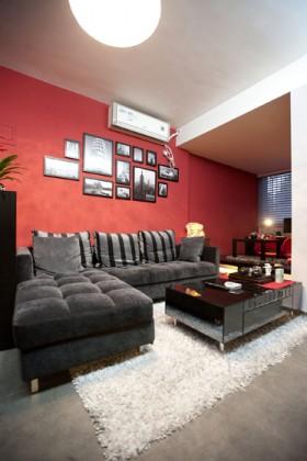 30平小户型简约客厅装修效果图874