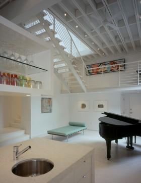 loft风格白色装修效果图
