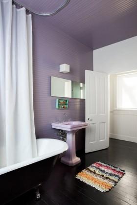紫色背景墙装修效果图