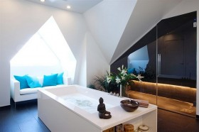 110平简约公寓卫生间装修效果图