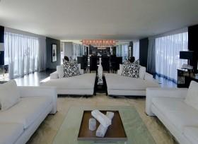 140平简约别墅客厅沙发装修效果图876