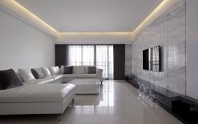 120平简约公寓客厅家装图片