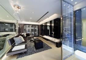 155平时尚公寓客厅装修效果图821