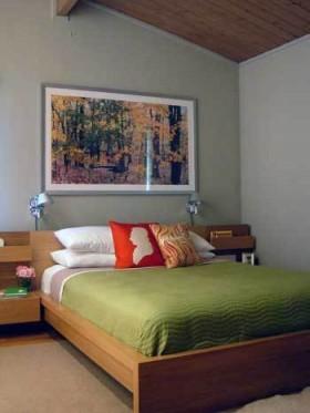 110平舒适卧室装修效果图