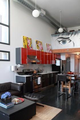 跃层厨房橱柜装修效果图281