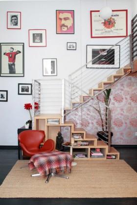 120平跃层楼梯装修效果图