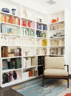 110平米书房书架装修效果图