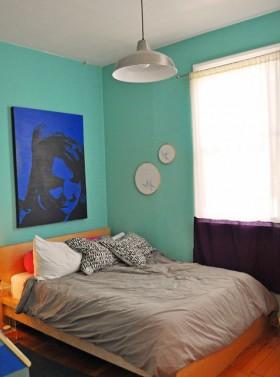 二居室卧室背景墙装修效果图118