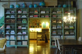 110平米家居书架装修效果图