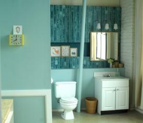 110平公寓简约卫生间装修效果图