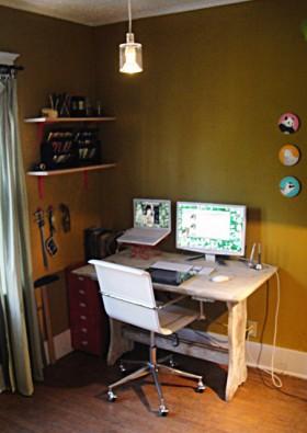 工作区书桌装修效果图201