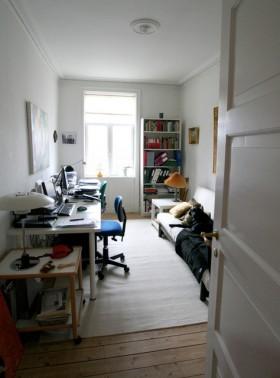 110平三居室书房装修效果图1