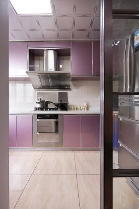 紫色橱柜吊顶装修效果图