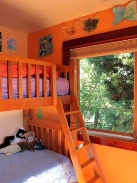 橙色卧室装修效果图