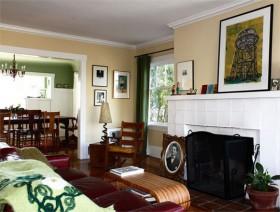 110平简洁三居客厅装修效果图