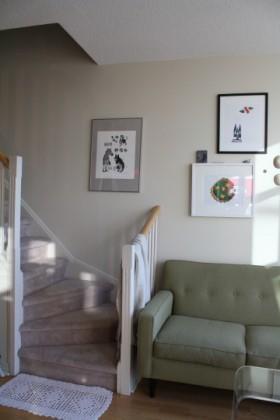 120平复式公寓楼梯装修效果图