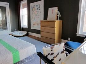 110平米公寓简约卧室装修效果图4