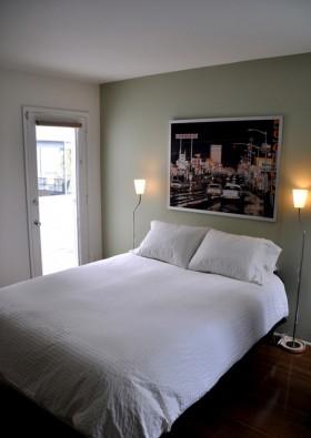 卧室背景墙简洁装修效果图341