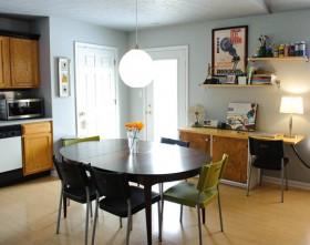 120平精致公寓餐厅餐桌装修效果图418