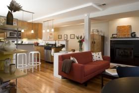 70平二居厨房橱柜装修效果图243
