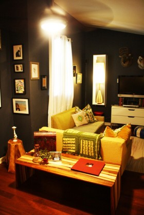 三居室沙发装修效果图685